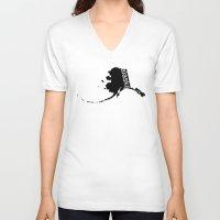 alaska V-neck T-shirts featuring Alaska by Isabel Moreno-Garcia