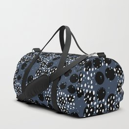 Minimal spots abstract dots and ink speckles snow and rain winter blue Duffle Bag