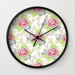 Bouquet Chintz Wall Clock