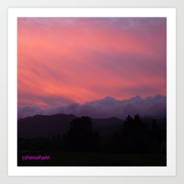 Evening in the Tararuas Art Print