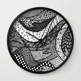 Pattern Tangle Wall Clock
