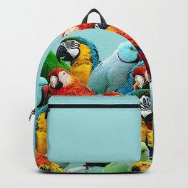 Sky blue parrots home decor Backpack