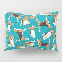 beagle scatter blue Pillow Sham
