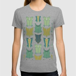18th Century Corset Stays Illustrated Pattern Print T-shirt
