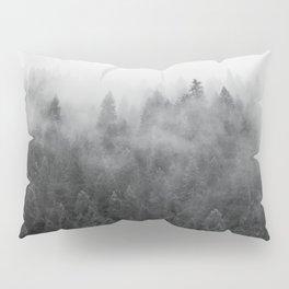 Black and White Mist Ombre Pillow Sham