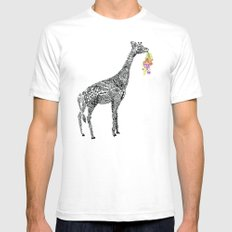 Giraffe  Mens Fitted Tee White SMALL