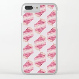 Cherry Pie - watercolour - pink Clear iPhone Case
