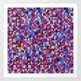 Knitted multicolor pattern 2 Art Print
