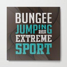 Bungee Jumping Extreme Sport Metal Print