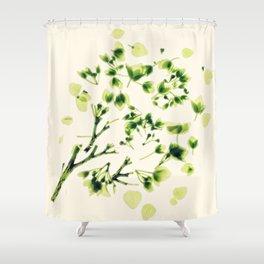 Green tickles - Botanical Print Shower Curtain