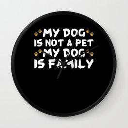 Dog Dog Lover Canine Pet Wall Clock