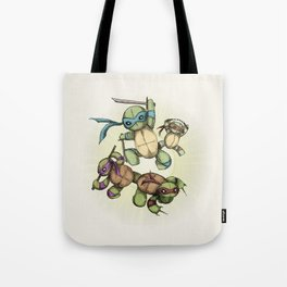 TEENAGE MUTANT NINJA PLUSHIES Tote Bag