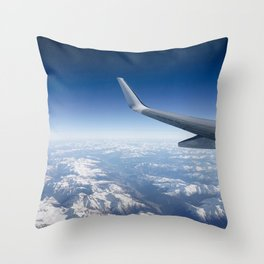 Flying over the Alps Throw Pillow