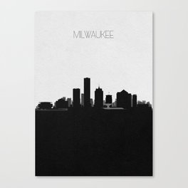 City Skylines: Milwaukee Canvas Print