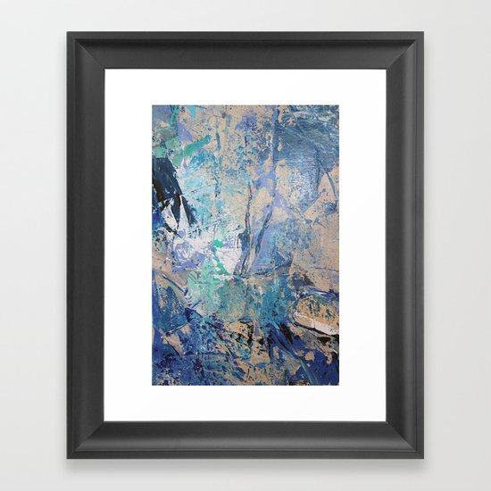 Clash of Tides (3 of 3) Framed Art Print