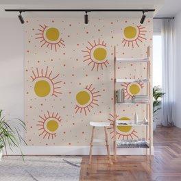 Abstract Suns Wall Mural