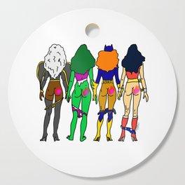 Superhero Butts Love 2 - Team Girls Cutting Board