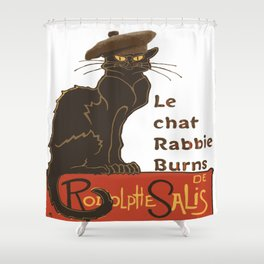 Le Chat Rabbie Burns With Tam OShanter Shower Curtain