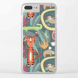 Rain forest animals 003 Clear iPhone Case