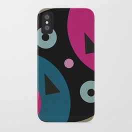 mixed shapes iPhone Case