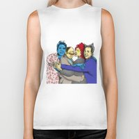 seinfeld Biker Tanks featuring The Uncanny Seinfeld by capperflapper