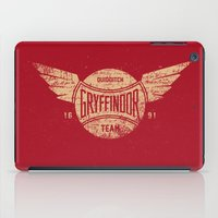 gryffindor iPad Cases featuring Vintage Gryffindor Quidditch Team by Gurven