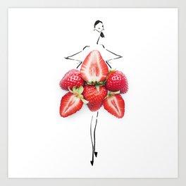 Edible Ensembles: Stawberry Art Print
