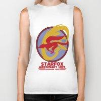 starfox Biker Tanks featuring Mercenary Unit - Starfox by TomStreetArt