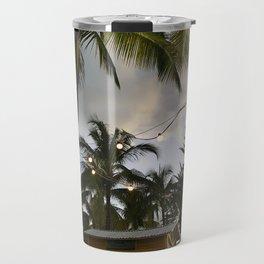 Twinkle Lights under Bahamian Palm Trees Travel Mug