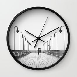 In Love On the Pier Wall Clock