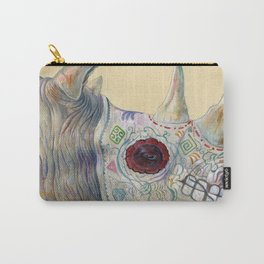 Day of the Dead Rhino Carry-All Pouch