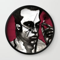 nick cave Wall Clocks featuring Nick Cave by Rafols