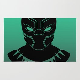 Black Panther Minimalist TEAL Variant Rug
