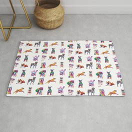 Rainbow Dogs Everywhere Rug