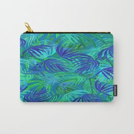 palm tree tropical blue and green Carry-All Pouch