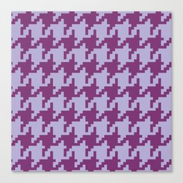 Houndstooth - Purple Canvas Print