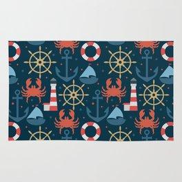 Sea blue pattern Rug