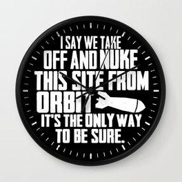 NUKE IT - Aliens Wall Clock