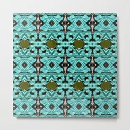 Turkiz Flower  ,  Metal Print