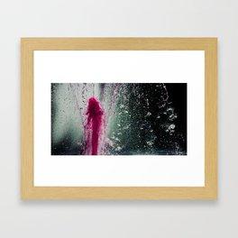 Water in pink Framed Art Print