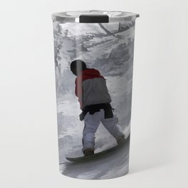 "Snowboarder ""just cruisin'"" Winter Sports Gift Travel Mug"