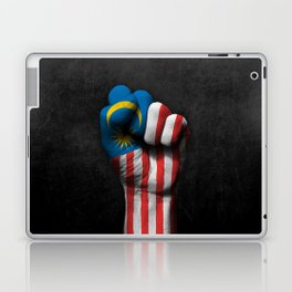 Malaysian Flag on a Raised Clenched Fist Laptop & iPad Skin