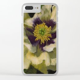 Radiant Tree Peony Clear iPhone Case