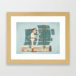 2033 IT man Framed Art Print