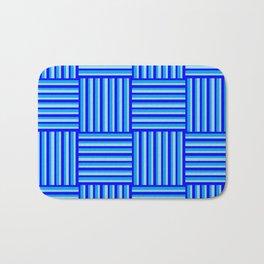 Havana Cabana - Blue Weave Stripe Bath Mat