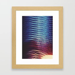 Camera Toss Light Abstract Framed Art Print