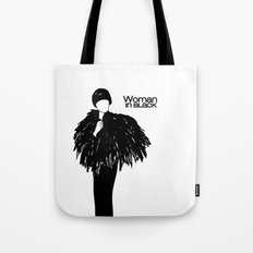 Woman in Black Tote Bag