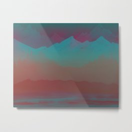 Ombre Mountainscape (Sunset Colors) Metal Print