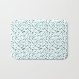 Mint Watercolor Dots - Aqua, Teal, Mint, Blue Bath Mat