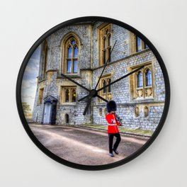 Windsor Castle Coldstream Guard Wall Clock